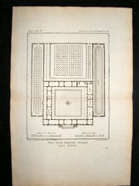 Barthelemy 1790 Antique Plan, Palaestra, Greece